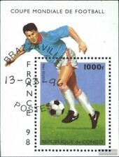 congo (brazzaville) Bloc 128 oblitéré 1996 Football-WM ´98, France