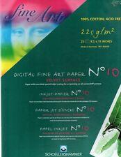 Schoellershammer Inkjet Velvet Fine Art Paper 11x17 -25 sheets
