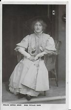 RARE LOVELY VINTAGE GREETINGS POSTCARD,ACTRESS,MISS PHYLLIS DARE,RP,1909