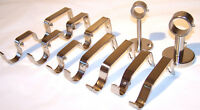 Stainless Steel Curtain Pole Brackets Double 19mm 25mm 28mm 35mm Ceiling 28/19mm