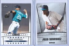 """(2) JULIO RODRIGUEZ 2018/2019 """"SILVER EDITION"""" ROOKIE CARD LOT! SEATTLE MARINERS"""