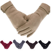 Womens Fleece Lined Thermal Gloves Touch Screen Winter Warm Full Finger Mittens
