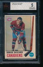 1969-70 O-Pee-Chee #4 Serge Savard RC Beckett Graded 5