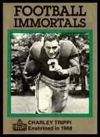 1985 Hall of Fame Set #117 Charley Trippi NICE GREEN Chicago Cardinals / Georgia