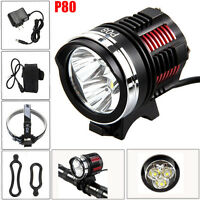 10000LM 3x CREE XM-L2 LED Cycling Front Bicycle Bike light Headlight Headlamp UK