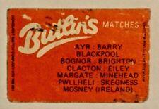Vintage Butlins Matchbox Label