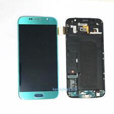 Pantalla Completa lcd display tactil Para Samsung Galaxy s6 G920F sky blue+cover