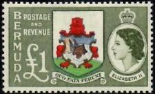 Bermuda 1953 QEII  £1 Arms of Bermuda  SG.150 Mint (Hinged)   Cat:£48