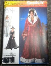 Simplicity 2818 Angel Witch Renaisannce Queen Princess Plus Size Costume Pattern