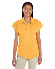 Holloway Ladies Electrify 2.0 Polo Shirt Large L Light Gold Heather