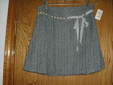 Neiman Marcus Monkey Wear Blue/Brown Plaid Skirt Bead Trim 16 Junior NWT