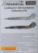 Xtradecal 1/72 X72315 Lockheed F-104 Starfighter Pt 2 Decal Set