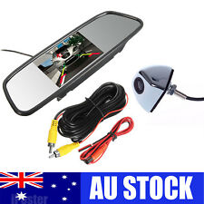 "Alloy Reversing Camera Car Rear View Kit + 5"" LCD Mirror Monitor 12v For Car SUV"
