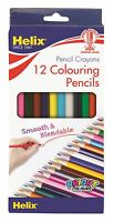 Helix 12 Colouring Pencils Crayons Blendable School Stationery Office Leads Tip