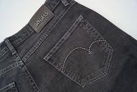 ANGELS Damen stretch Jeans Hose Gr.42 stone wash dunkelgrau TOP #Q