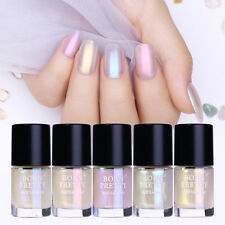 5Pcs BORN PRETTY 9ml Nail Polish Shell Glimmer Shining Transparent Nail Art