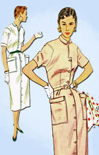 1950s Vintage Simplicity Sewing Pattern 4739 Uncut Misses Slender Dress Size 32B