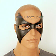 LEATHER Mask Genuine LEATHER Batman Masquerade  Hand Crafted in US
