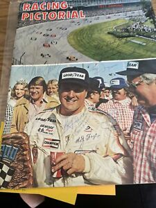 1977 Racing Pictorial Autographed Mario Andretti Danny Ongias Bobby Unser +