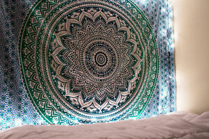 Indian Tapestry Wall Hanging Mandala Hippie Bohemian Gypsy Bedspread Throw Decor