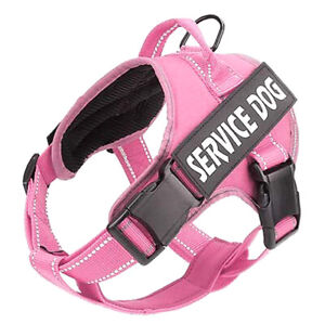 Easy Breathable Dog Vest With Handle Walking Reflective Service Dog Harness
