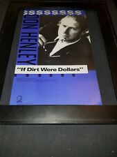 Don Henley If Dirt Were Dollars Rare Original Radio Promo Poster Ad Framed! #2