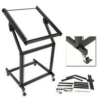 New 19U Rack Mount Stand DJ AMP Music Studio Equipment Mixer Case Rolling Cart