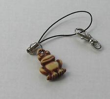 Handmade Novelty Fashion Cheeky Frog Charm Handbag Bag Keyring Charm