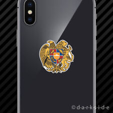 (2x) Armenian Coat of Arms Cell Phone Sticker Mobile Armenia flag ARM AM