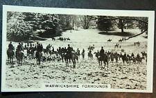 Warwickshire Foxhounds  Shuckburgh Hall   Vintage Action Photocard  VGC