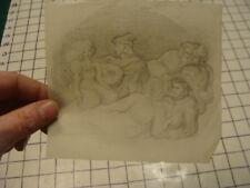 Vintage original LESLIE SNOW (Feron) Art -- sketch old tyme singer - unsigned