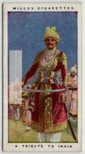Ww One Tribute To The Sacrifices Made By The People Of India c100 Y/O Trade Card