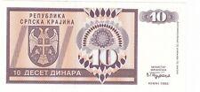 Croazia  Croatia Krajina  10 dinari  1992  FDS UNC  Pick R1 rif 2997
