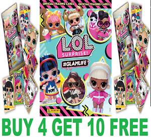 LOL SURPRISE GLAM LIFE ☆ PANINI TRADING CARDS ☆ BUY 4 GET 10 FREE!  #GLAMLIFE