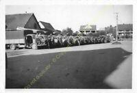 Original Photo MADAGASCAR 1948 Camions et militaires n66