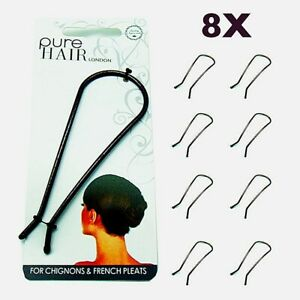 8pcs U Shaped Updo Hair Up Hairpins Fork Clip Stylers Pins Chignon French Pleat