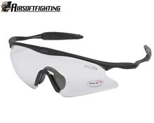 Airsoft Tactical Sporty UV400 Protection Police Shooting Glasses Clear A