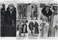 PUBLICITE ADVERTISING 054 1978 REVILLON fourrures manteau (2 pages)