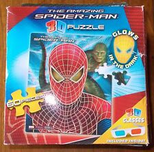 SPIDER-MAN 3D  PUZZLE 60 PCS NEW IN BOX 3D GLASSES INCLUDED
