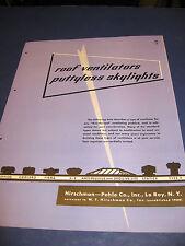 Hirschman-Pohle Co. 1950's Catalog Asbestos Packing & Insulation W F Hirschman