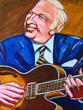 BUCKY PIZZARELLI PRINT poster 7 string benedetto jazz guitar john pizzarelli cd