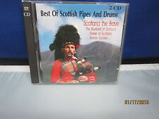 THE BEST OF SCOTTISH PIPES AND DRUMS 2 CD's 1995 Mint Cond Super Fast Shipping