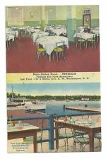 WASHINGTON DC Herzog's Seafood Restaurant Vtg  Postcard
