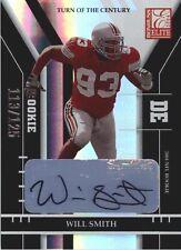 RARE WILL SMITH SIGNED 2004 DONRUSS ELITE OHIO STATE SAINTS FOOTBALL CARD /125
