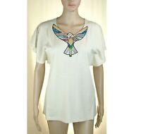 Top T-Shirt Maglia Donna TWIN-SET Italy Maglietta Blusa LU315 Beige Tg S