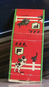 Vintage Matchbook Cover P4 Colgate Toothpaste Playing Dog & Cat Puppy Kitten