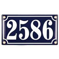 Hausnummer Hausnummernschild Emaille 12x22 cm mit Wunschnummer Premiumqualität