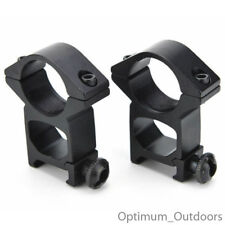 "QD Hi Profile Scope Mounts 25mm 1"" Rings / 20mm Weaver Picatinny Gun Rifle Rail"