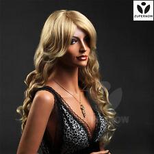 Long Wave Wigs Women Hair Gold Female Wigs Synthetic 100% Japan's Hair Long Hair