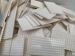 15 Random Light /& Dark Grey Base Plates Per Order LEGO Mixed Colours /& Sizes